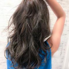 ヘアアレンジ 夏 イルミナカラー 涼しげ ヘアスタイルや髪型の写真・画像