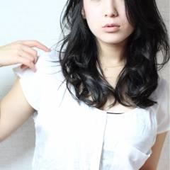 黒髪 大人かわいい コンサバ セミロング ヘアスタイルや髪型の写真・画像