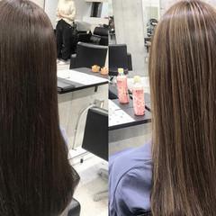 ロング ツヤ髪 ハイライト モード ヘアスタイルや髪型の写真・画像