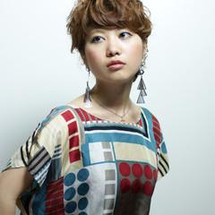 パーマ ショート 外国人風 ガーリー ヘアスタイルや髪型の写真・画像