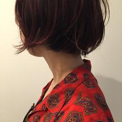 ショートボブ 外ハネ ショート ストリート ヘアスタイルや髪型の写真・画像