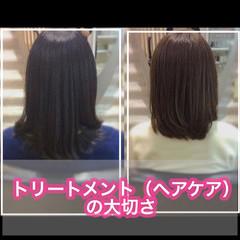 髪質改善トリートメント ミディアム うる艶カラー 髪質改善 ヘアスタイルや髪型の写真・画像