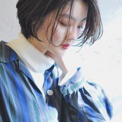 黒髪 ショートボブ ショート 大人女子 ヘアスタイルや髪型の写真・画像