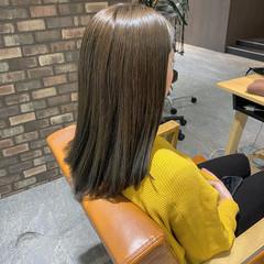 ミディアムヘアー 大人ミディアム ミディアム ツヤ髪 ヘアスタイルや髪型の写真・画像
