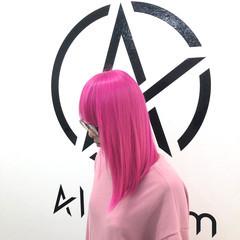 ブリーチ セミロング ホワイトブリーチ モード ヘアスタイルや髪型の写真・画像