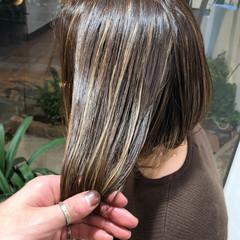 ハイライト 外国人風 透明感 モード ヘアスタイルや髪型の写真・画像
