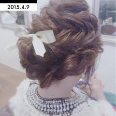 結婚式 愛され コンサバ モテ髪 ヘアスタイルや髪型の写真・画像
