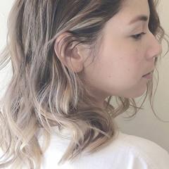 ボブ 透明感 ナチュラル グレージュ ヘアスタイルや髪型の写真・画像
