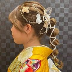 ふわふわヘアアレンジ 成人式ヘアメイク着付け ロング ガーリー ヘアスタイルや髪型の写真・画像