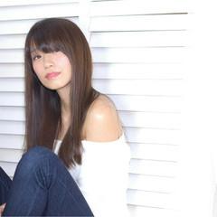 大人女子 ストレート ナチュラル 大人かわいい ヘアスタイルや髪型の写真・画像