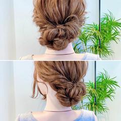 ロング 簡単ヘアアレンジ フェミニン セルフヘアアレンジ ヘアスタイルや髪型の写真・画像