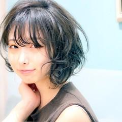 小顔 パーマ 大人かわいい フェミニン ヘアスタイルや髪型の写真・画像