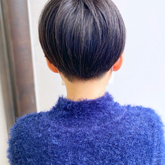 大人かわいい ナチュラル 刈り上げショート ベリーショート ヘアスタイルや髪型の写真・画像