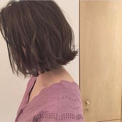 黒髪 ロブ 切りっぱなし デート ヘアスタイルや髪型の写真・画像