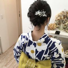 お祭り 夏 花火大会 結婚式 ヘアスタイルや髪型の写真・画像