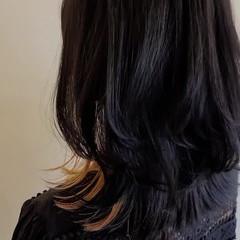 レイヤーカット ウルフカット ウルフレイヤー セミロング ヘアスタイルや髪型の写真・画像