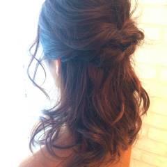 ヘアアレンジ コンサバ セミロング ヘアスタイルや髪型の写真・画像