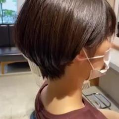ショート ショートボブ ショートヘア 大人可愛い ヘアスタイルや髪型の写真・画像
