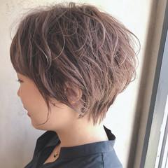 ボブ  ショートヘア ゆるふわパーマ ヘアスタイルや髪型の写真・画像