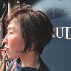 似合わせ ナチュラル ショート 小顔 ヘアスタイルや髪型の写真・画像