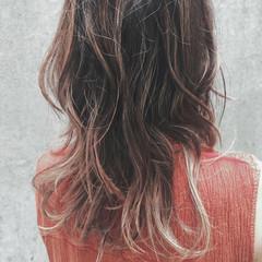 大人女子 スライシングハイライト ナチュラル コントラストハイライト ヘアスタイルや髪型の写真・画像
