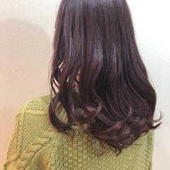 パープル ブルーラベンダー ブルーバイオレット コンサバ ヘアスタイルや髪型の写真・画像