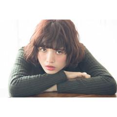 パーマ フェミニン 簡単 ボブ ヘアスタイルや髪型の写真・画像