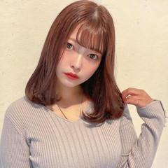 Wカラー ラベンダーピンク ラベンダーカラー フェミニン ヘアスタイルや髪型の写真・画像