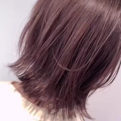 ナチュラル ピンク 外国人風 ピンクベージュ ヘアスタイルや髪型の写真・画像