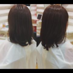 髪質改善トリートメント ナチュラル 大人ミディアム パーマ ヘアスタイルや髪型の写真・画像