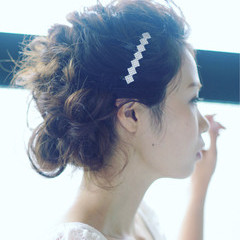 ゆるふわ ヘアアレンジ フェミニン デート ヘアスタイルや髪型の写真・画像