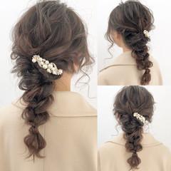 ヘアアレンジ ロング デート アンニュイほつれヘア ヘアスタイルや髪型の写真・画像