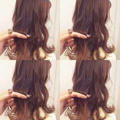 デート オフィス セミロング ヘアアレンジ ヘアスタイルや髪型の写真・画像