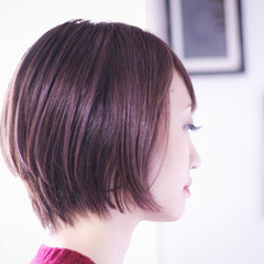 ボブ ピンクラベンダー ラベンダーアッシュ ラベンダーグレージュ ヘアスタイルや髪型の写真・画像
