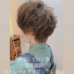ベリーショート ナチュラル ショートボブ ウルフカット ヘアスタイルや髪型の写真・画像