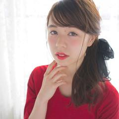 大人かわいい ヘアアレンジ 簡単ヘアアレンジ セミロング ヘアスタイルや髪型の写真・画像