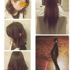 ナチュラル アッシュベージュ インナーカラー ミディアム ヘアスタイルや髪型の写真・画像