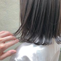 アッシュベージュ アッシュグレー グレージュ ナチュラル ヘアスタイルや髪型の写真・画像