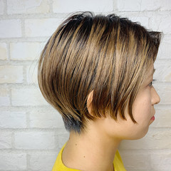 ショート オフィス 簡単ヘアアレンジ デート ヘアスタイルや髪型の写真・画像
