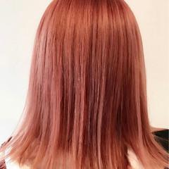 ピンクアッシュ ストリート ミディアム 外国人風カラー ヘアスタイルや髪型の写真・画像