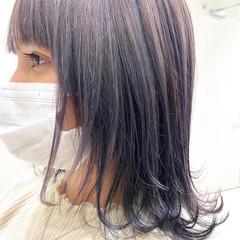 ウルフレイヤー ミディアム フェミニン ネオウルフ ヘアスタイルや髪型の写真・画像