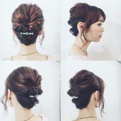 女子会 簡単ヘアアレンジ 結婚式 ショート ヘアスタイルや髪型の写真・画像