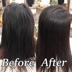 美髪 セミロング ツヤ髪 ナチュラル ヘアスタイルや髪型の写真・画像