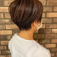 ナチュラル ショートヘア ハイライト ショート ヘアスタイルや髪型の写真・画像