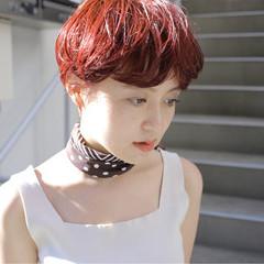 デート ショート ヘアアレンジ モード ヘアスタイルや髪型の写真・画像