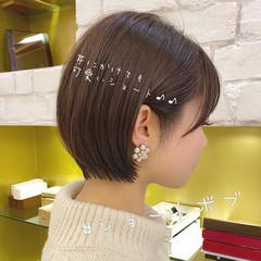 ショートボブ 丸みショート ミニボブ ナチュラル ヘアスタイルや髪型の写真・画像