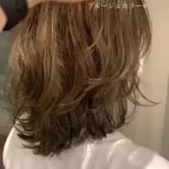 ハイライト モテ髪 エレガント ウルフカット ヘアスタイルや髪型の写真・画像