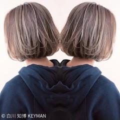 ハイライト ストリート 色気 ボブ ヘアスタイルや髪型の写真・画像