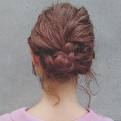 ゆるふわ 波ウェーブ ヘアアレンジ ショート ヘアスタイルや髪型の写真・画像