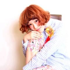 ガーリー 外国人風 グラデーションカラー ハイライト ヘアスタイルや髪型の写真・画像